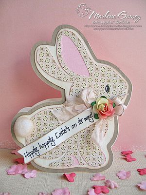 Bunny shaped Easter card