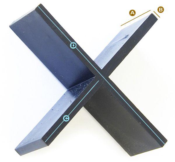 Flisekryds til betonfliser, Afstandsstykker til betonfliser, og natursten samt andre belægningssten