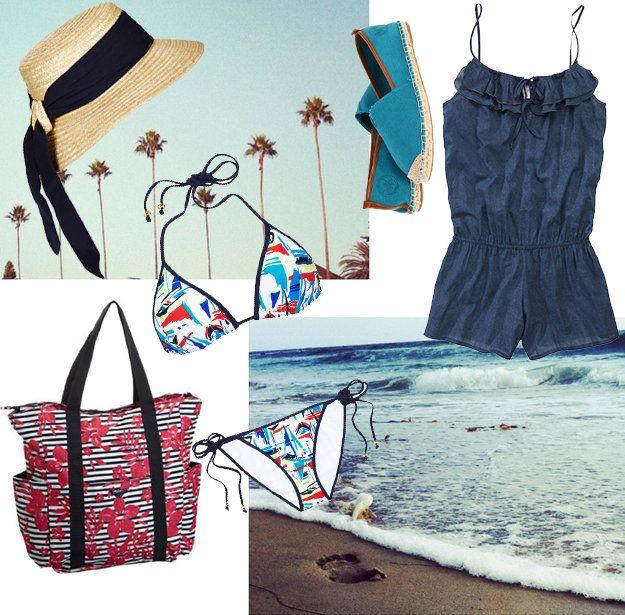 Пляжные сумки и шляпы