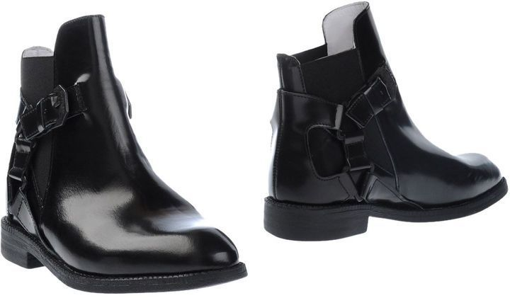 $178, Black Leather Chelsea Boots: Swear London Ankle Boots. Sold by yoox.com. Click for more info: https://lookastic.com/women/shop_items/312083/redirect