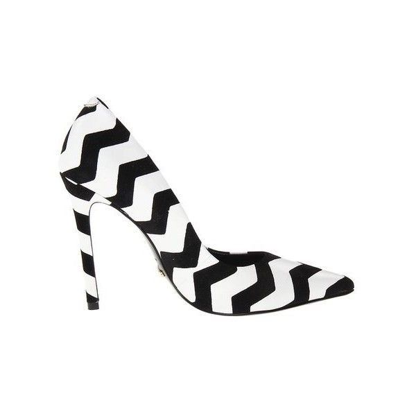 Schutz Gilberta Black White Zigzag Heels Review ❤ liked on Polyvore featuring shoes, pumps, heels, black white pumps, black and white pumps, schutz shoes, black and white shoes and schutz pumps