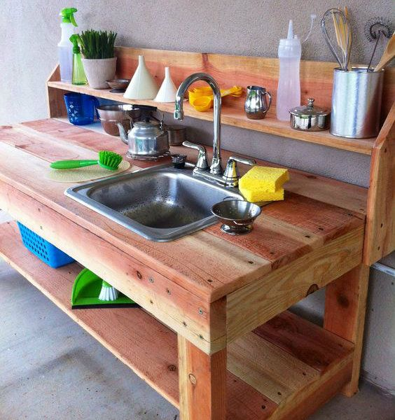 Mud Kitchen fitted with a sink