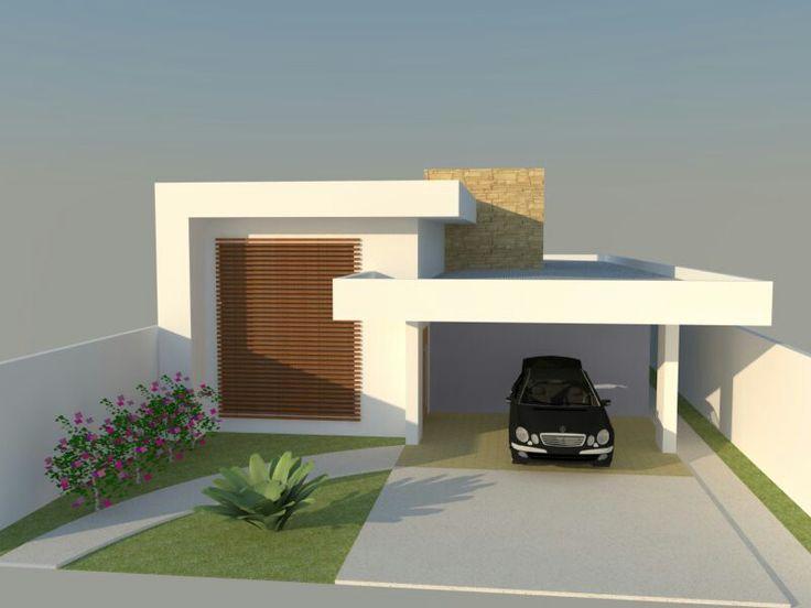 Fachada platibanda fachadas residenciais pinterest for Casas arquitectonicas modernas