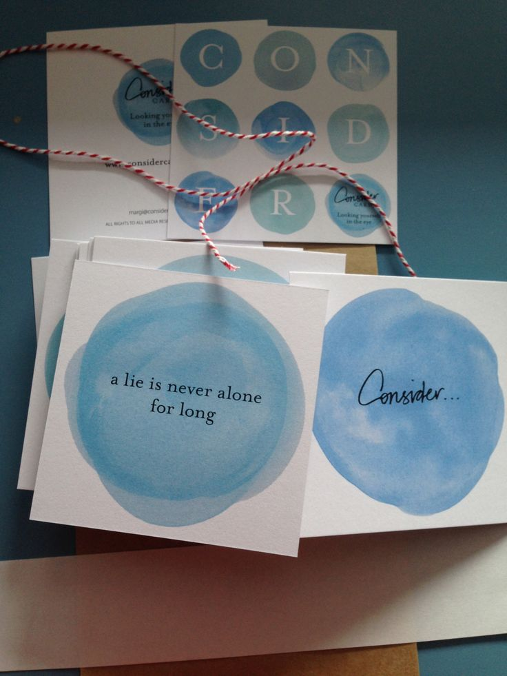 CONSIDER A lie is never alone for long.  #ConsiderCards by Margi Hoy
