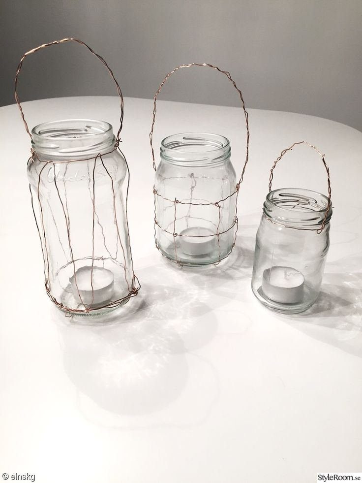 ståltråd,mässing,mässingtråd,glasburk,burkar,glas,glasburkar,ljuslykta,ljuslyktor,pyssel,ljuspyssel,höstpyssel,koppar,koppartråd
