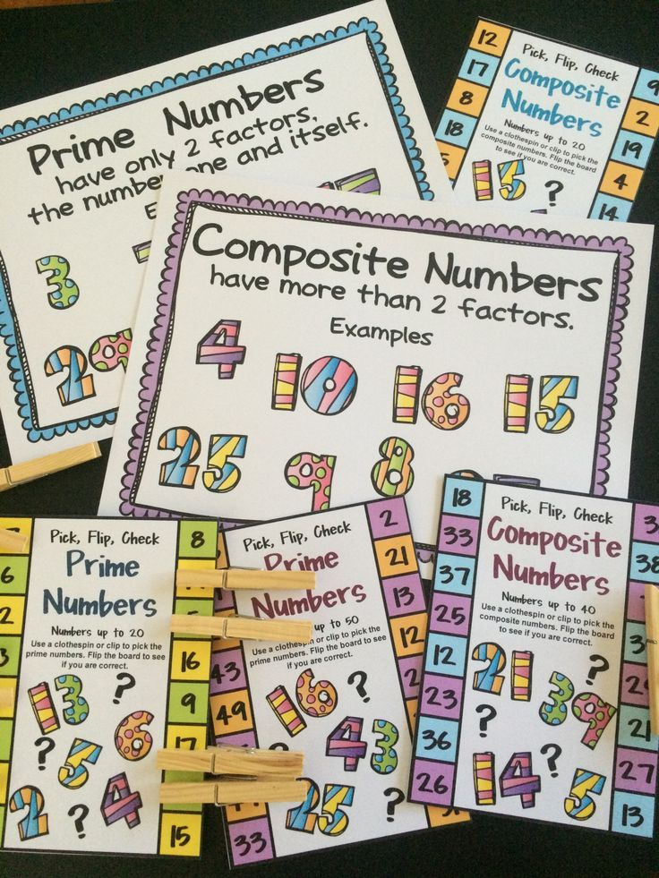 FREEBIES - Prime and Composite Numbers Pick, Flip and Check Freebie cards and posters by Games 4 Learning - The fun way to review prime and composite numbers.