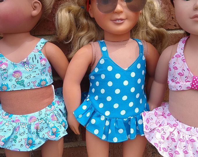 Doll Clothes Dress swimmerwearFor 18 inch American Girl Our Generation
