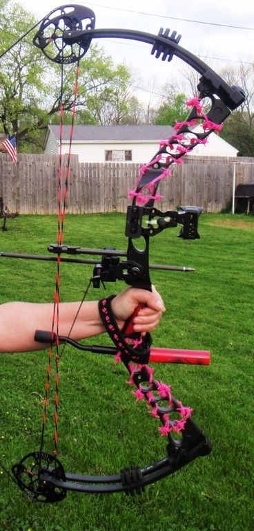Pink Barb Wire Wrap Bow Silencers