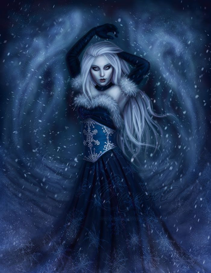 Winter Witch by Enamorte.deviantart.com on @deviantART