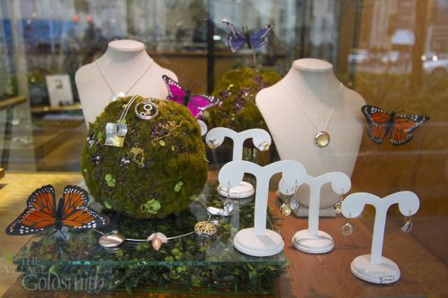 The team have put together a window display inspired by Mother Nature, to celebrate The World of WearableArt Awards Show. Come and explore our garden of jewels!