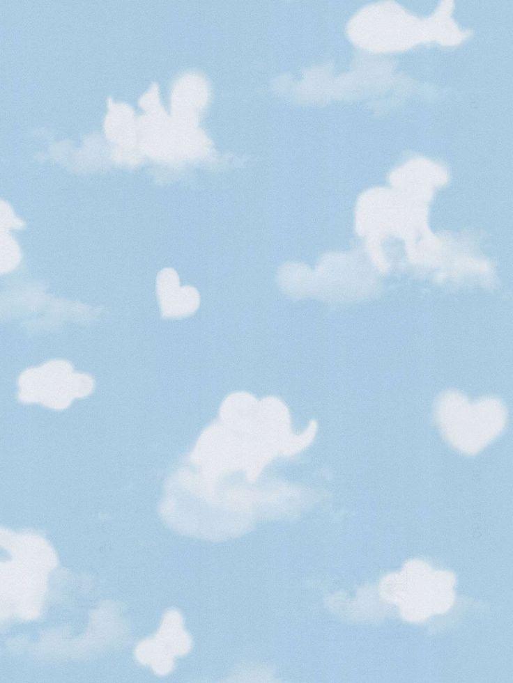 Cloud Shapes Nursery Wallpaper