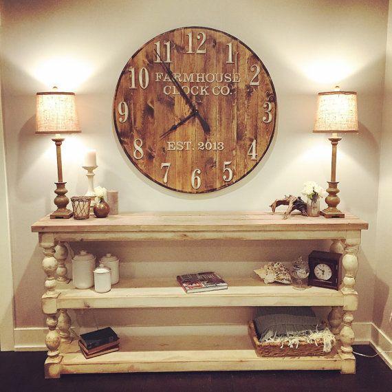 Horloge murale Clock Co. Extra grand rond de par BushelandPeckFarm