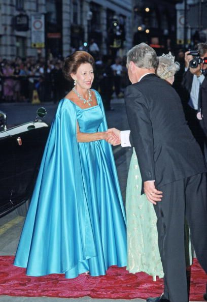Princess Margaret At The London Palladium For The Queen Mother's 90th Birthday