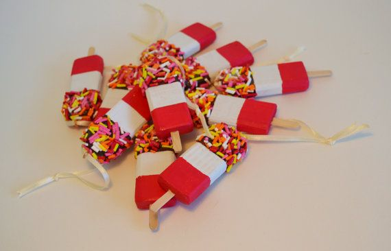 Retro 'FAB Lolly' Hanging Wooden Decoration. by HSDesignsCornwall
