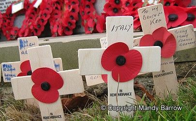 Wooden crosses of remembrance