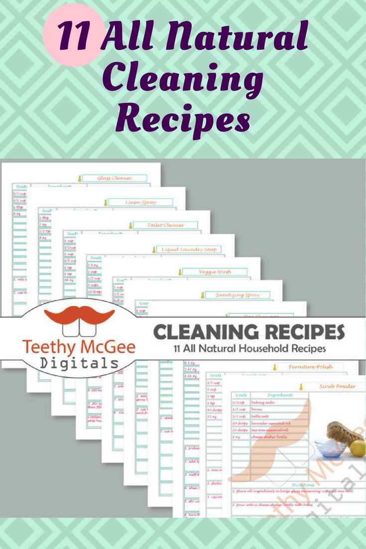 Making your own all natural cleaning products saves loads of money, is fun, and is really gratifying. Use everyday household ingredients to make your own all natural yet powerful cleaning products. Print out these tested recipes and organize them into a binder. Fully editable blank page included to type in your own recipes using Adobe Reader.  From Detergent to sanitizing spray, from glass cleaner to veggie wash, this set has it all.  #ad