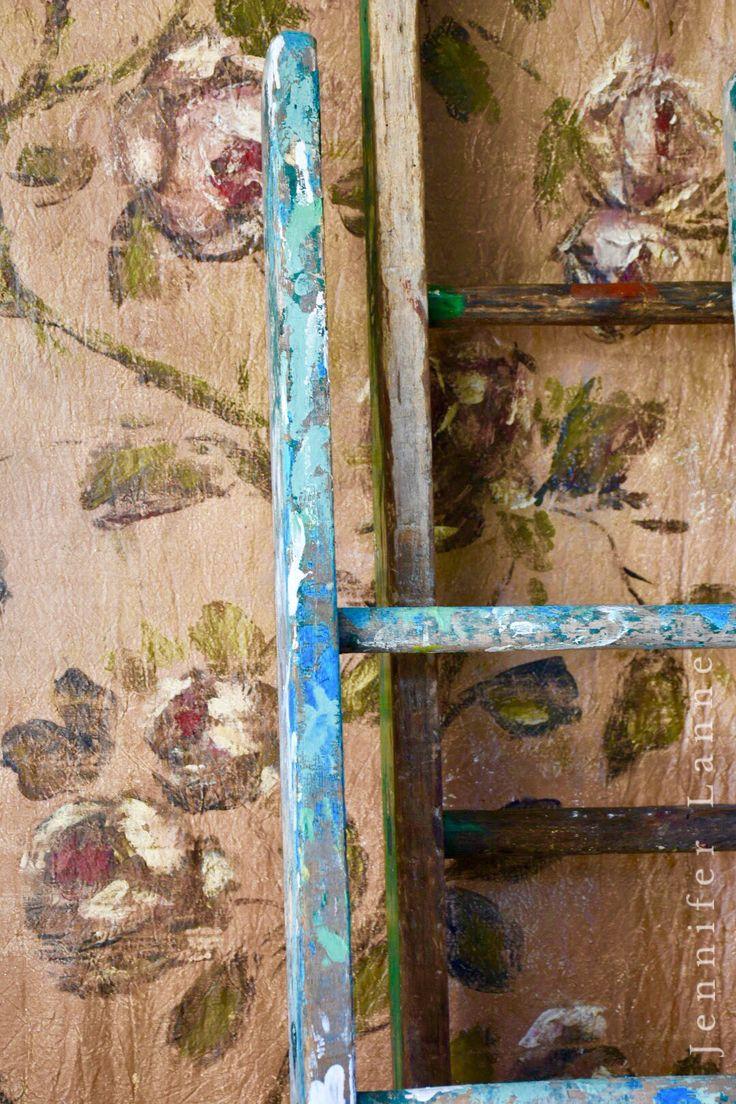 Hand painted panel  Jennifer Lanne