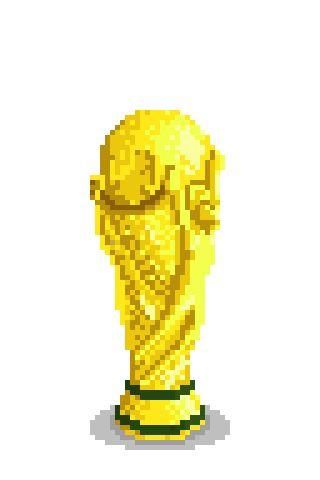 this is my version of worlcup in pixel art / esta es mi versión de la copa del mundo en pixelart. original size: 64X96 px
