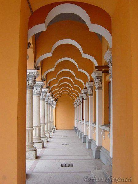 Administrative palace of Buzau county, Romania