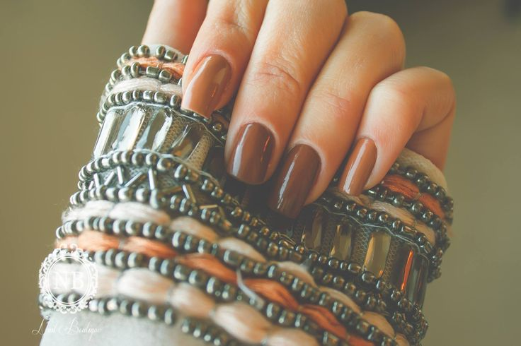 brown beautiful nails