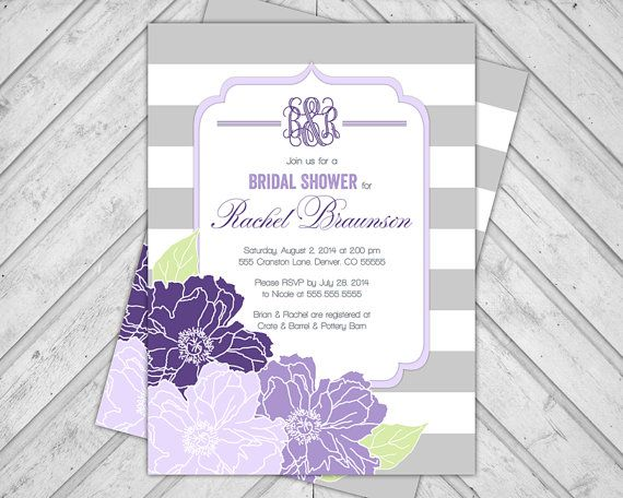 Flower bridal shower invitation wedding shower by alittletreasure