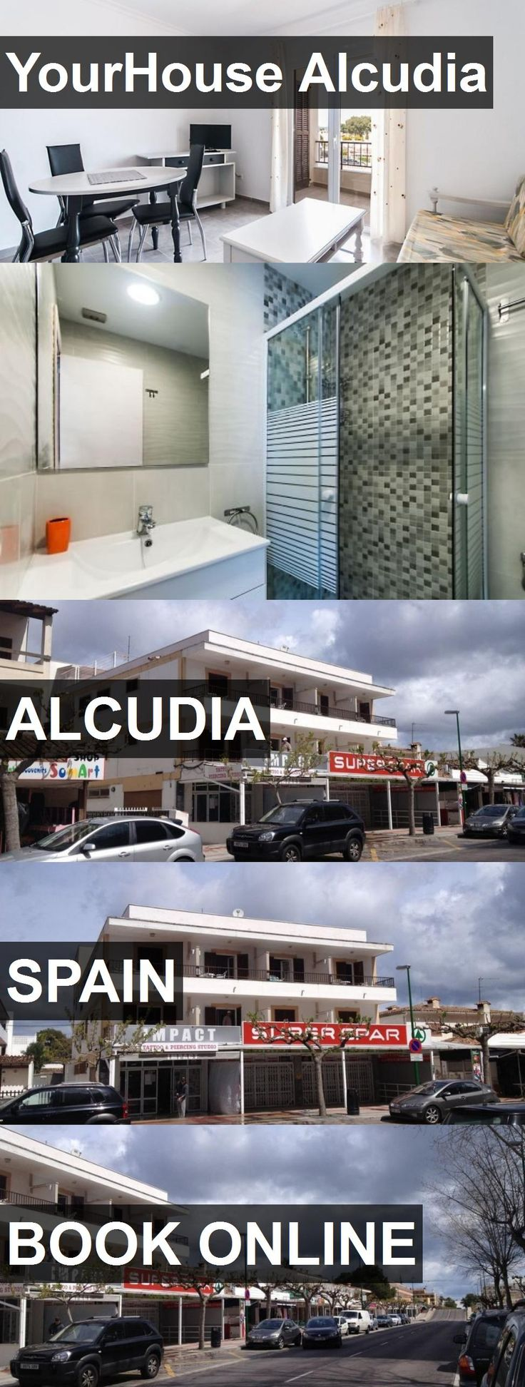Hotel YourHouse Alcudia in Alcudia, Spain. For more information, photos, reviews and best prices please follow the link. #Spain #Alcudia #travel #vacation #hotel