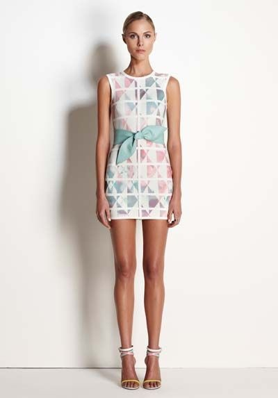 Day to Evening look in St Barts, me thinks :)   White Love Dress in Geometric Floral Print by Talulah -