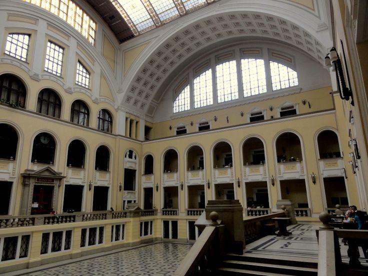 Stunning interior of University of Debrecen (Debreceni Egyetem)