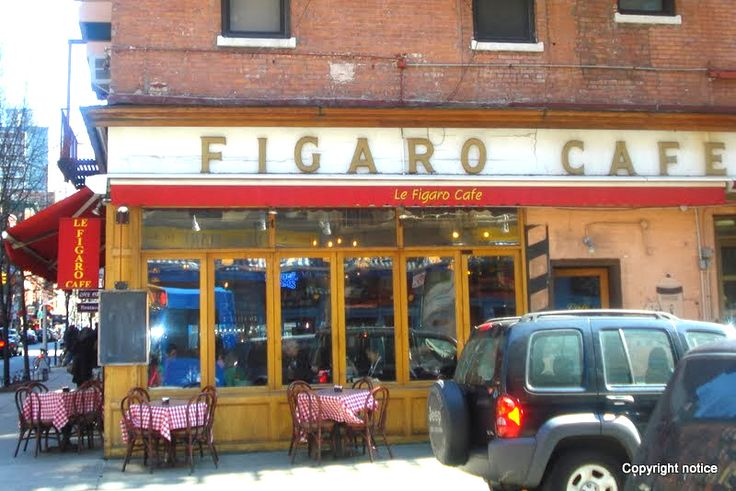 Figaro's Cafe across the street from Cafe del Mare - The Village - New York