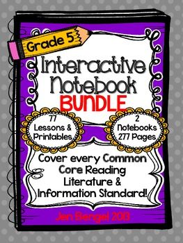 Units are available for grades 2-5.  Cover ALL grade 5 Reading Informational and Reading Literature Common Core State Standards with this bundle! ($)