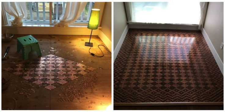 Your home can be uniquely yours with a few creative touches. Can You Believe This Floor Is Made of $130 Worth of Pennies? www.contempovacationhomes.com
