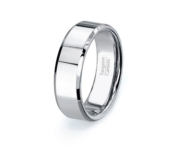 Classic Mens Wedding Band Tungsten Ring Wedding by TungstenOmega, $68.00