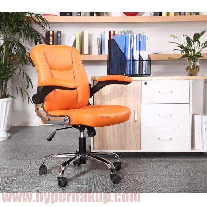 kancelárske kreslo s čalúnenými podrúčkami,prevedenie: ekokoža oranžová + kovová podstava+ plastové podrúčky,rozmery (ŠxHxV): 66x59x86-94cm, výška sedu: 42-50cmHmotnosť: 16 kg Kancelárske kreslo, ekokoža oranžová+kovová podstava+plastové podrúčky, GARED | PREDAJ | HYPERNAKUP.COM