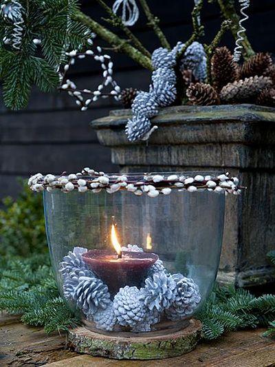 windlicht, kerst, denneappel katjes