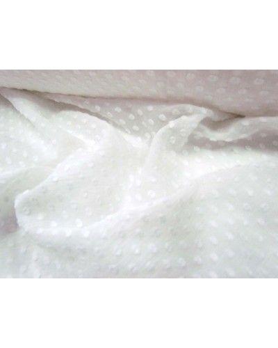 Hail Spot Muslin- White - $9.95