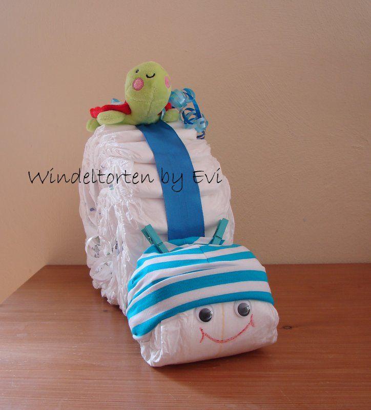 Windelschnecke basteln, komplette Anleitung mit Fotos - handgemachtes Babygeschenk, ganz leicht nachzumachen!