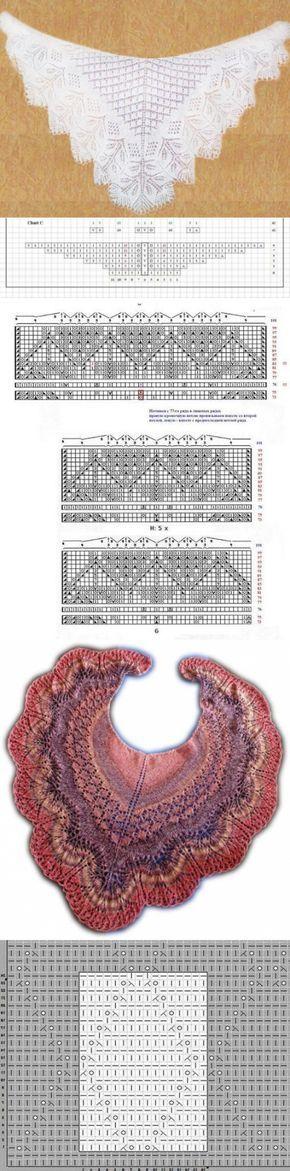 Шаль Энгельна: схема и описание. Ажурные шали спицами со схемами