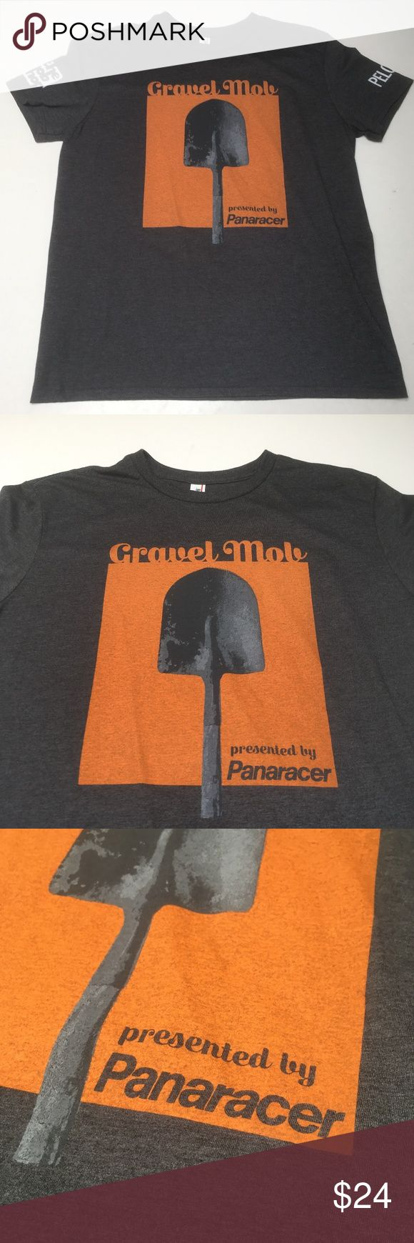 Gravel Mob Presented by Panaracer Peloton Shovel Awesome shirt for the casual rider or cyclocross freak Trusted Anvil quality  Please check measurements for fit reference  Smoke and pet-free storage Happy to answer any questions Thanks for looking Anvil Shirts Tees - Short Sleeve