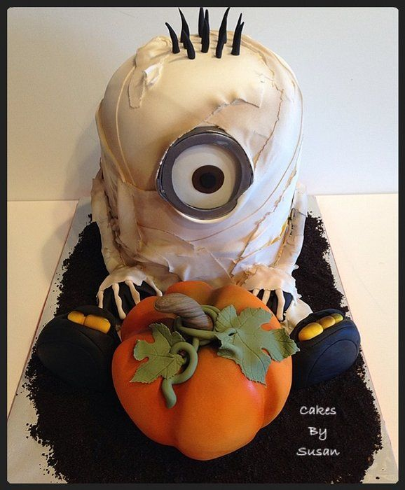 Mummy Minion cake -too cute not to pin!  ~ all edible