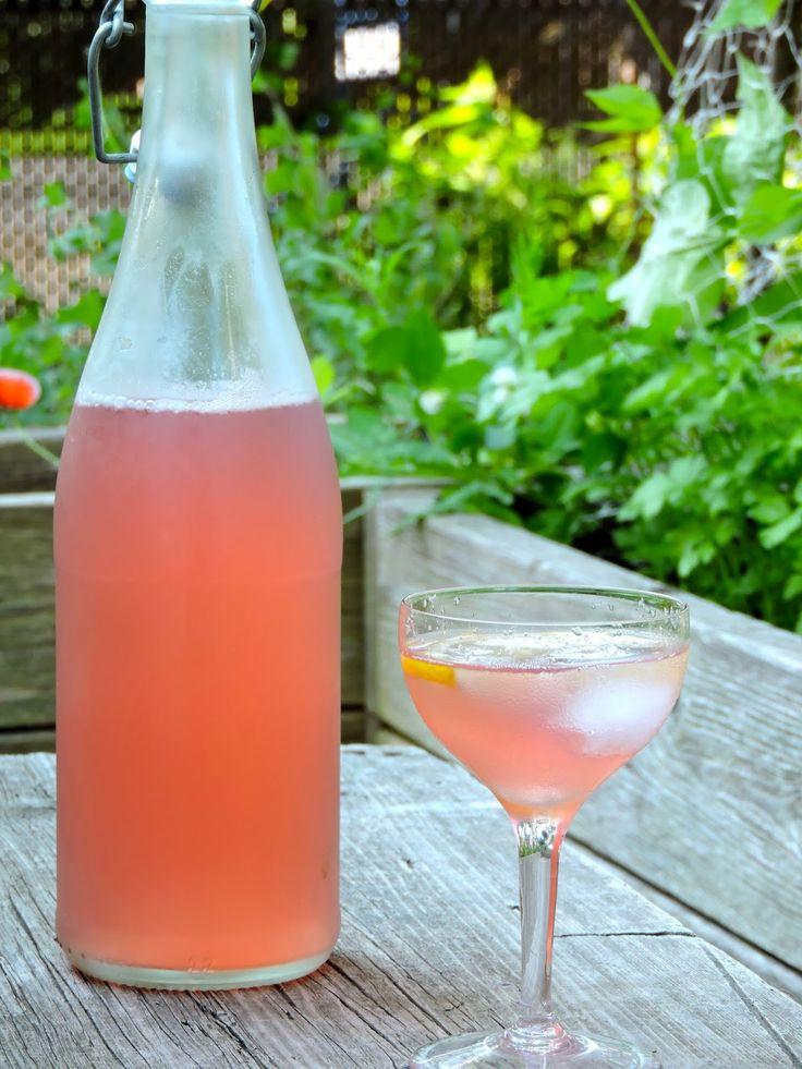 Je suis au jardin: Au cœur de l'été, une boisson rafraîchissante: limonade à la rhubarbe!
