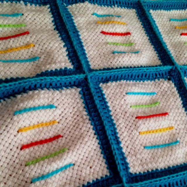 Color crochet baby blanket