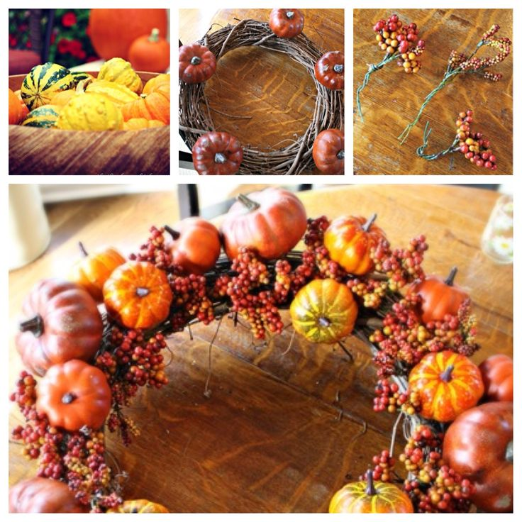 #DIY fall wreath how-to! A great gift idea! I think I'd add some flowers to the wreath too.