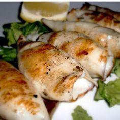 Calamari alla griglia o piastra