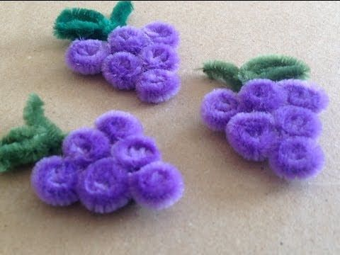 UVAS HECHAS CON LIMPIA PIPAS .- PIPE CLEANER GRAPES .