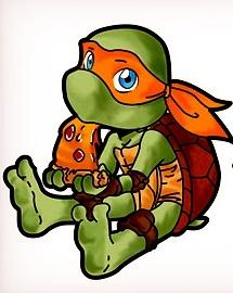 baby ninja turtle.. so cute!
