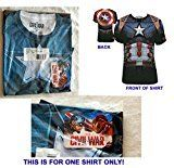 #1: Captain America Civil War Sublimated T-Shirt Mens Size MEDIUM  Marvel Comics 2016  NEW UNCIRCULATED  Factory Sealed in a Poly Bag With Marvel AvengersTag  THIS IS FOR ONE SHIRT ONLY