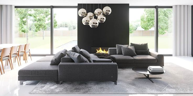 Modern living room photos by homekoncept | projekty domów nowoczesnych | homify