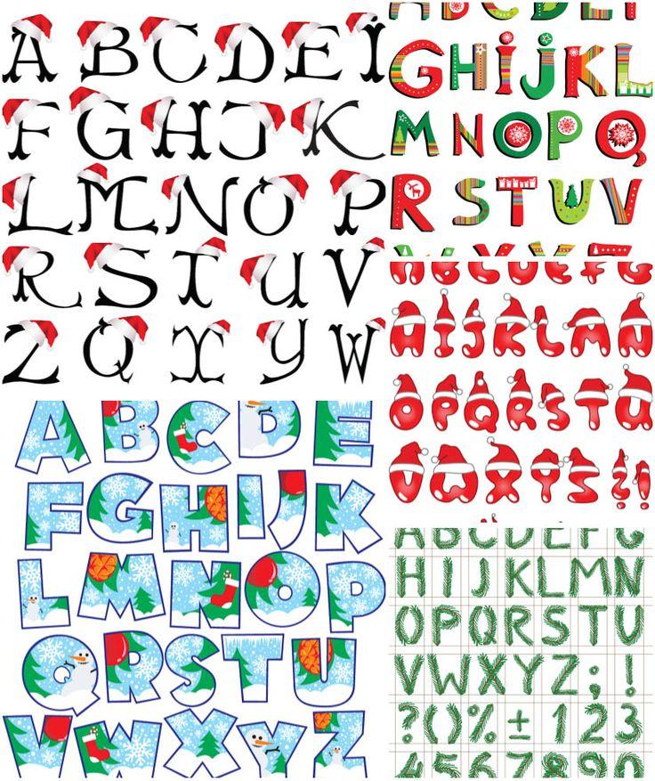 CHRISTmas alphabet templates Victorian   CHRISTmas ...