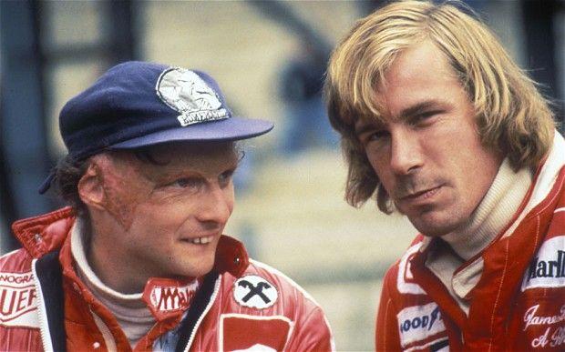 Niki Lauda and James Hunt:)