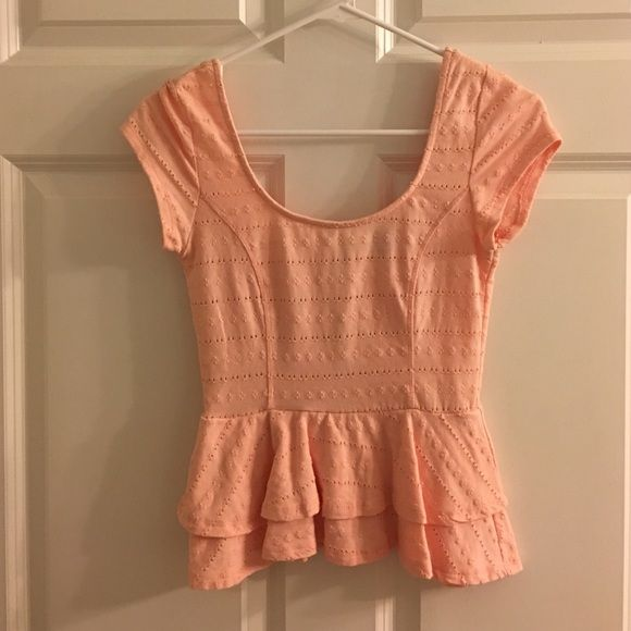 Pink peplum top Pink peplum top from Urban Outfitters Lucca Couture Tops Blouses